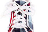 Lacing on sports footwear — Stock Photo