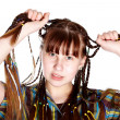 Teenage girl with plaits — Stock Photo #9729721