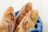 Crusty Artisan French Baguette Bread — Stock Photo