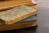 Stack Of Antique Tattered Books — Stock Photo