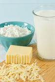 Healthy Fresh Milk And Dairy Products — Stock Photo