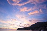 Stunning sunset on mediterranean sea — Stock Photo