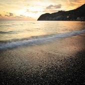 Sunset on mediterranean sea — Stock Photo