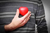 Heart in a hand — Stock Photo