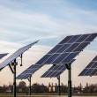 Renewable energy - solar panels — Stock Photo