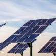 Renewable energy - solar panels - Stock Photo