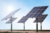 Renewable energy - solar panels — Stock Photo