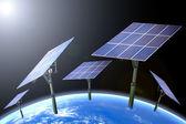 Yenilenebilir enerji - güneş panelleri — Stok fotoğraf