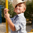 Stock Photo: Portrait of young boy in hat