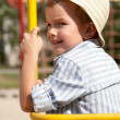 Portrait of young boy in hat — Stock Photo