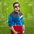 Man With Headphones And Laptop — Stock Photo #10028860