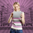Businesswoman With Touch Pad — Stock Photo #10028882