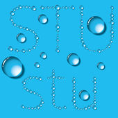 Water Drops Letters — Stock Vector