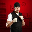 Man In Boxing Position — Stock Photo #10148644