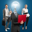 Lamp Head Man And Business Team — Stock Photo #10148679