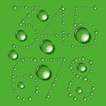 letras de gotas de água — Vetorial Stock