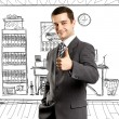 Business Man Shows Well Done — Stock Photo