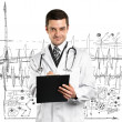 Doctor Man With Stethoscope — Stockfoto