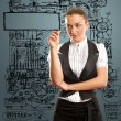 Businesswoman writing something — Stock Photo #8113796