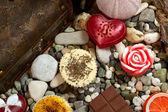 Still life with handmade soap — Stock Photo