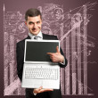 Businessman With Open Laptop In His Hands — Stock Photo #8303919