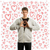 Fall in love male — Stock Photo