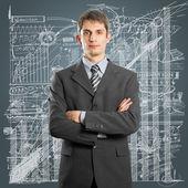 Uomo d'affari in tuta — Foto Stock