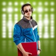 Stock Photo: Man With Headphones And Laptop