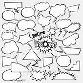 Vector set van strips stijl tekstballonnen — Stockvector