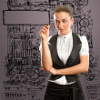 Businesswoman writing something — Stock Photo
