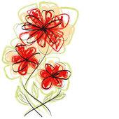 векторные цветы — Cтоковый вектор
