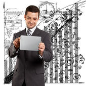 Businessman With I Pad — Stock Photo