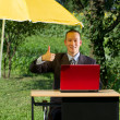 Businessman Working Outdoors — Stock Photo #9291641