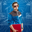 Man With Headphones And Laptop — Stock Photo #9291734