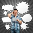 Man With Speech Bubble — Stock Photo #9291769