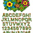 Flower and Bush Letters — Vektorgrafik