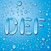 Wassertropfen briefe — Stockvektor