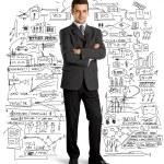 フルの長さのスーツのビジネスマン — ストック写真 #9671469