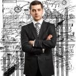 biznesmen człowiek w garniturze — Zdjęcie stockowe #9671520