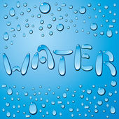 Water Drops Word — Stock Vector