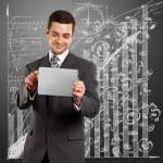 uomo d'affari con i pad — Foto Stock #9821471