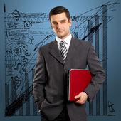 Biznesmen z laptopa — Zdjęcie stockowe