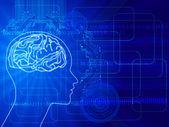 Human thinking — Stock Vector