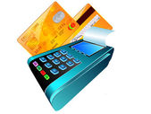 Credit card reader — Stock Vector