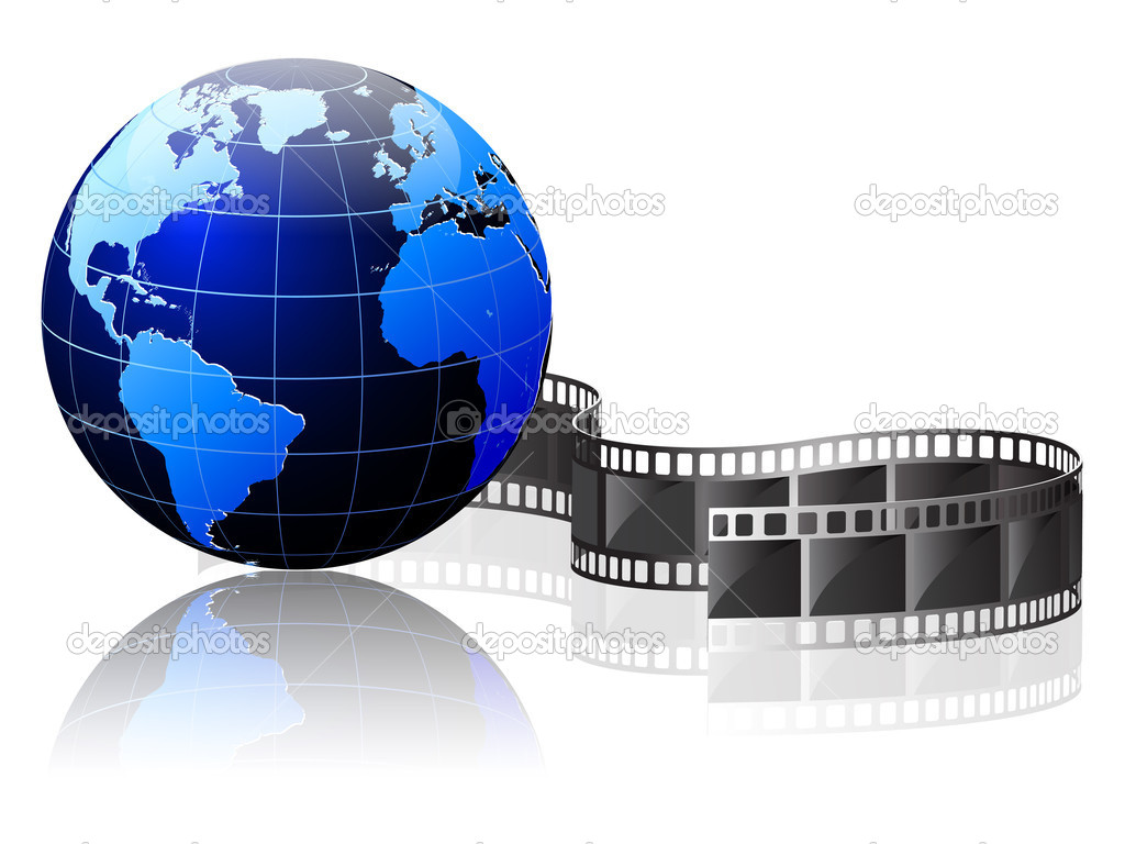 Earth wrapped in film — Stock Vector #8767350