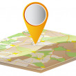 Stock Vector: Map and location