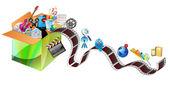 Multimedia carton — Stock Vector