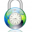 World lock — Stock Vector