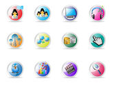 Media icons — Vettoriale Stock