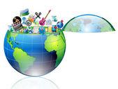 Multimedia world — Stock Vector